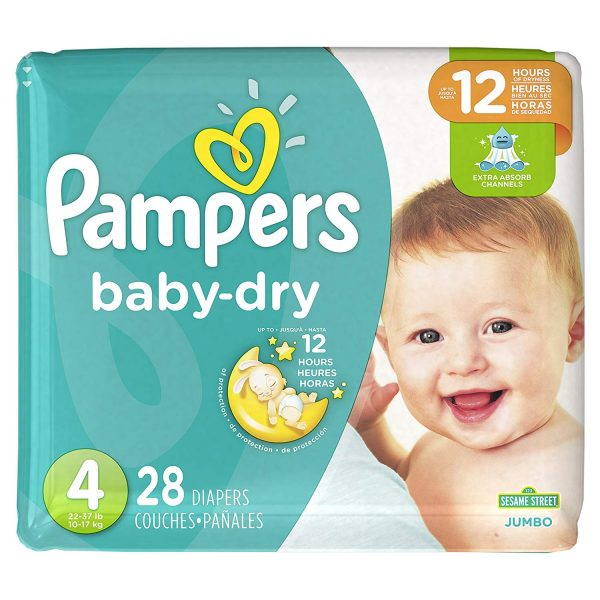 Pampers Baby Dry Diapers 28pcs jumbo | diapers price in bd