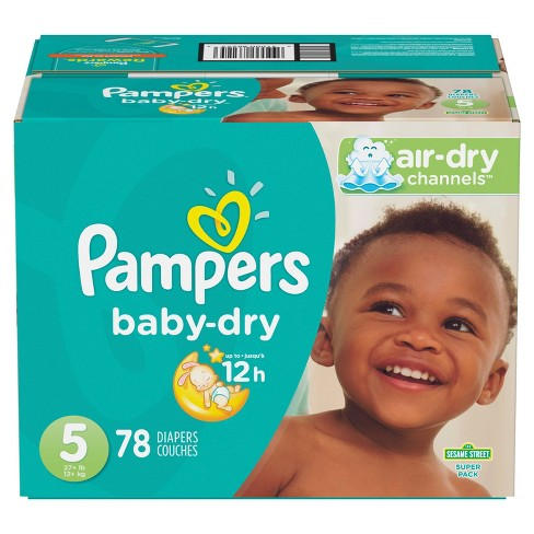 Pampers Baby Dry Diapers Super 78pcs | Baby Dry Diaper price in BD