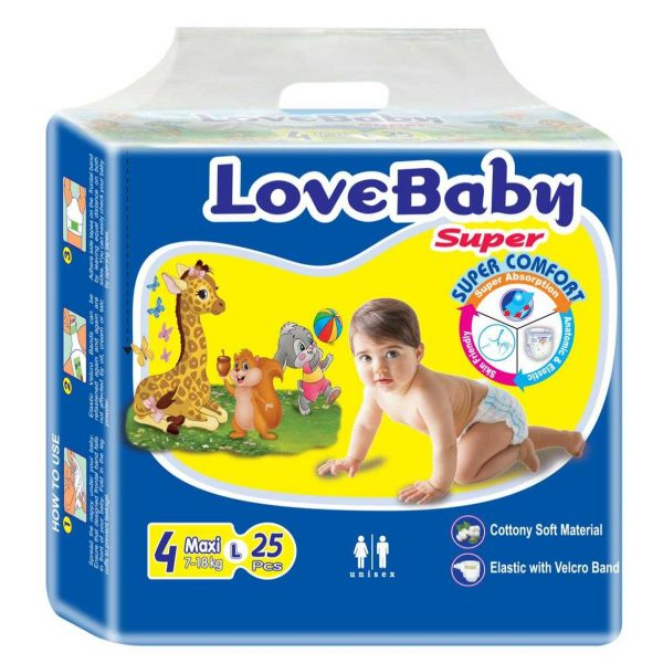 Love Baby Super Diaper Belt 25pcs | diapers price in bangladesh