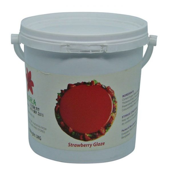 Flora Strawberry Cold Glaze 3kg | Cake frosting price