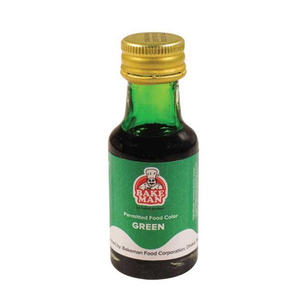 Bakeman Food Coloring Green 28ml | food color price bd
