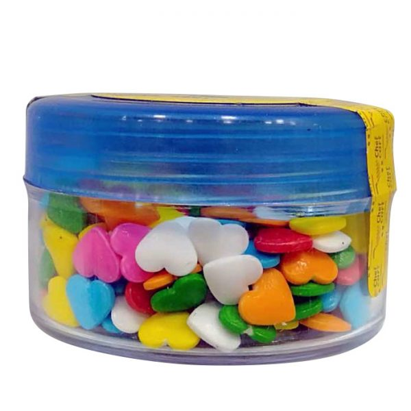 Heart Shape Multi Color Sugar Candy | Sprinkle price BD