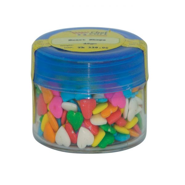 Rainbow Hearts Shape Sprinkles 40gm | sprinkles price