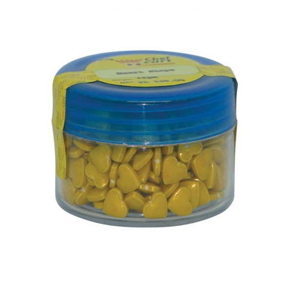 Gold color Hearts Sprinkles 40gm | Cake sprinkles price