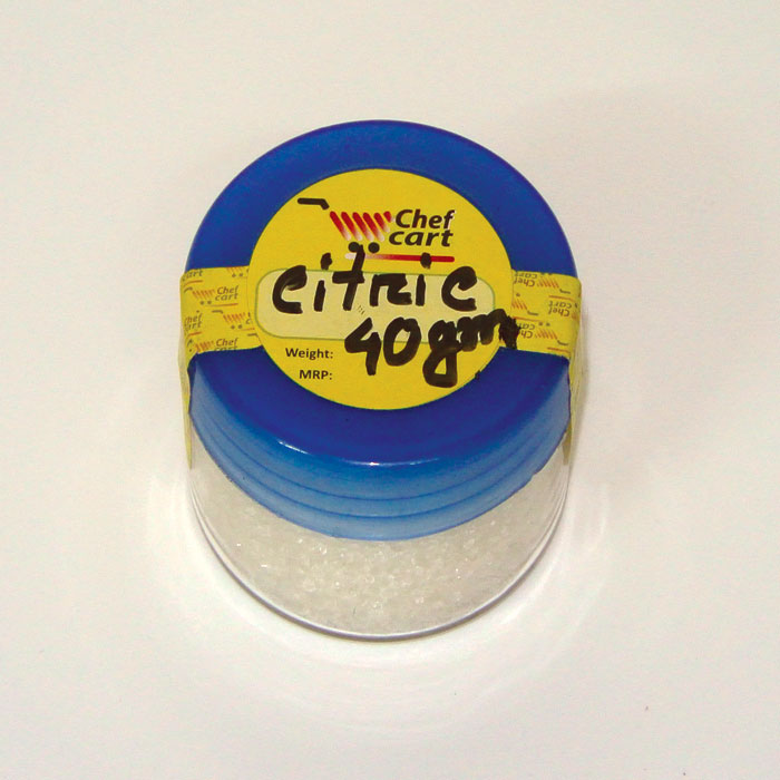 Citric acid for food