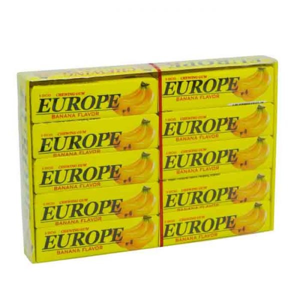 Europe Banana Chewing Gum 20pcs | Chewing Gum Price bd