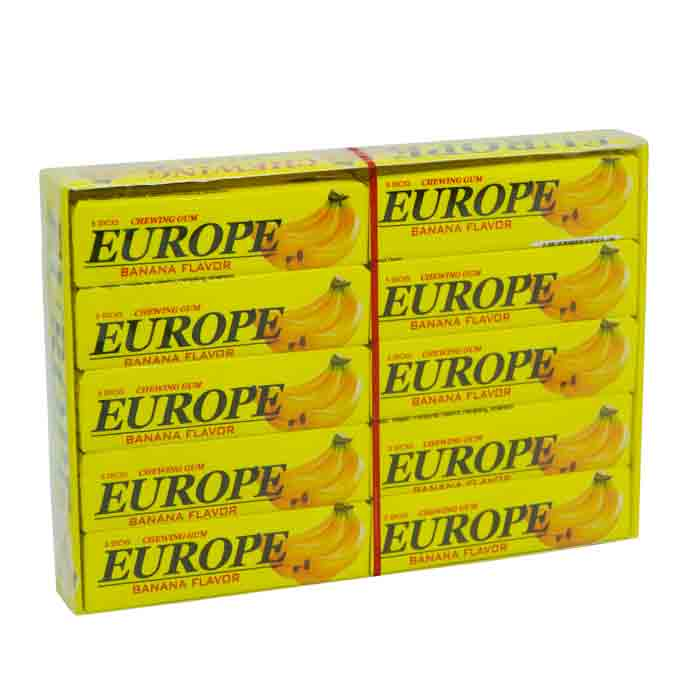 Europe Banana Flavored Chewing Gum