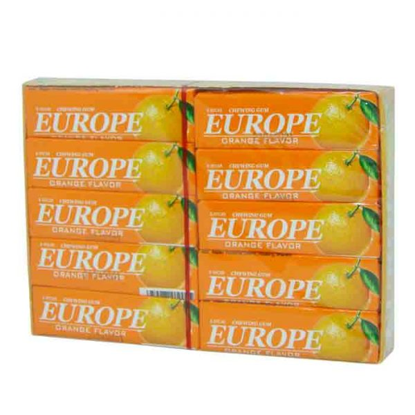 Europe Orange Chewing Gum 20pcs | chewing gum price in bd