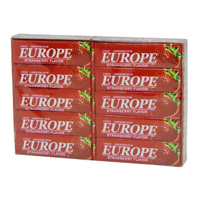 Europe Strawberry Chewing Gum 20pcs | Chewing Gum Price bd