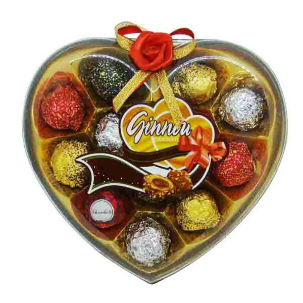 Ginnou Chocolate Heart Box 132gm | Gift chocolate price