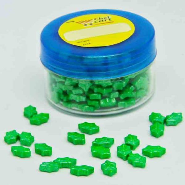 Green Leaf Shape Cake Sprinkles 30gm in Bangladesh