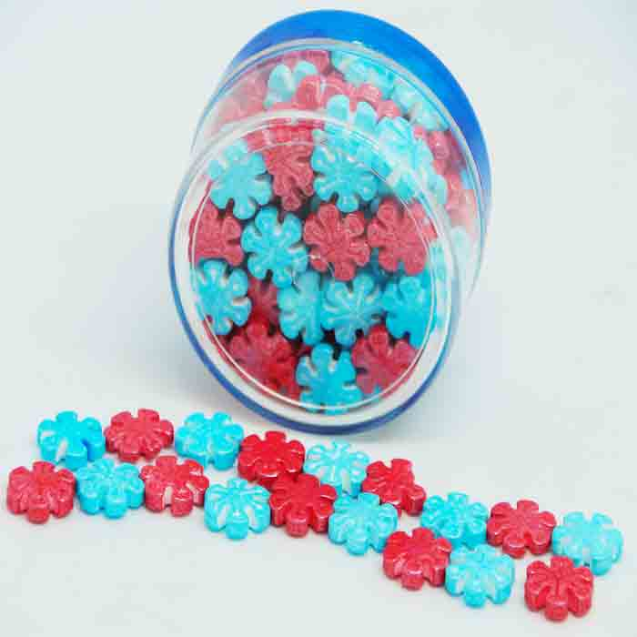 Multi color sprinkles flower shape 40gm