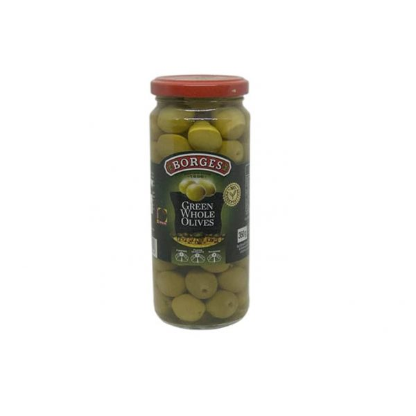 Best Borges green whole olive 350gm