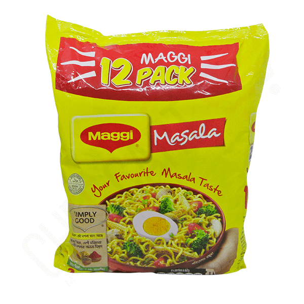 Maggi 12pcs family masala Noodles | maggi noodles price in bd