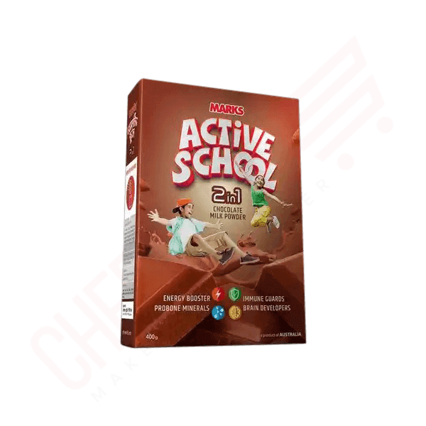 Marks Active School 2 in 1 Chocolate Milk Powder 400 gm