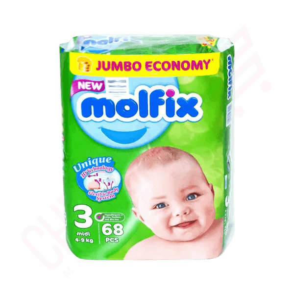 Molfix Baby Diaper Belt 3 Midi 4-9 kg 68 pcs | diaper price