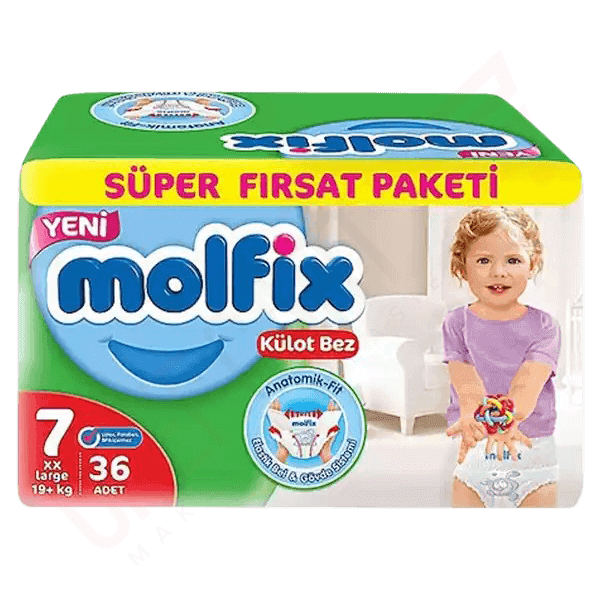 Molfix Baby Diaper Pants 7 Extra Large 19+ Kg 36 pcs | Diaper