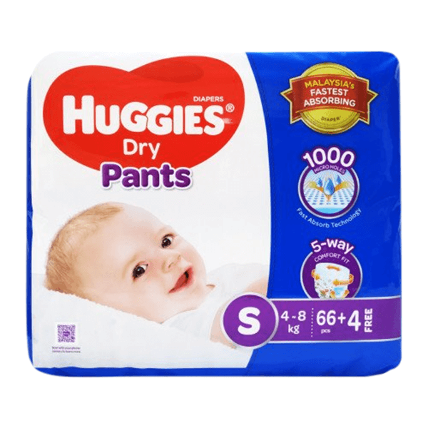Huggies Dry Small Pant Diaper 4-8Kg 70pcs | huggies diapers price bd