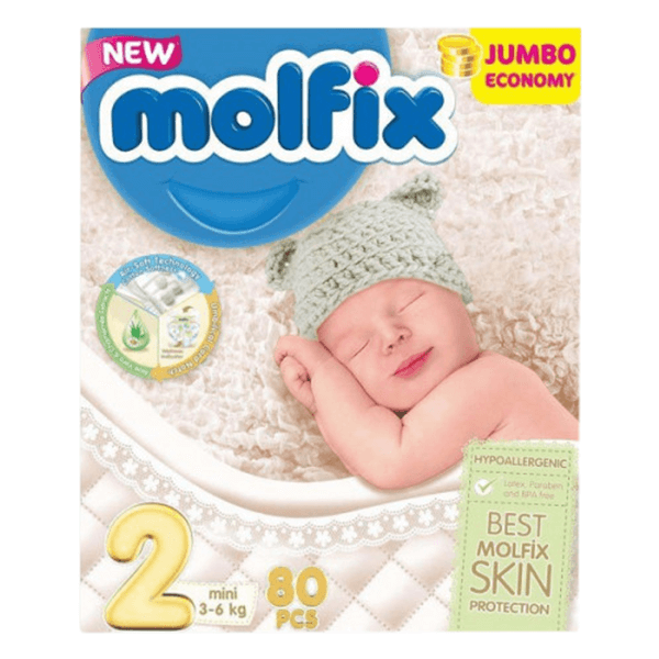 Molfix Diaper Mini Belt 3-6 Kg 80 Pcs | Diaper price in Dhaka Online