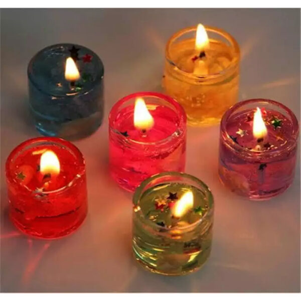 Birthday Gel candle 6pcs | gel birthday candle price in bd