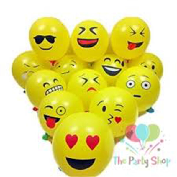 Buy Emoji Balloon 100pcs | Best quality emoji balloon price in bd