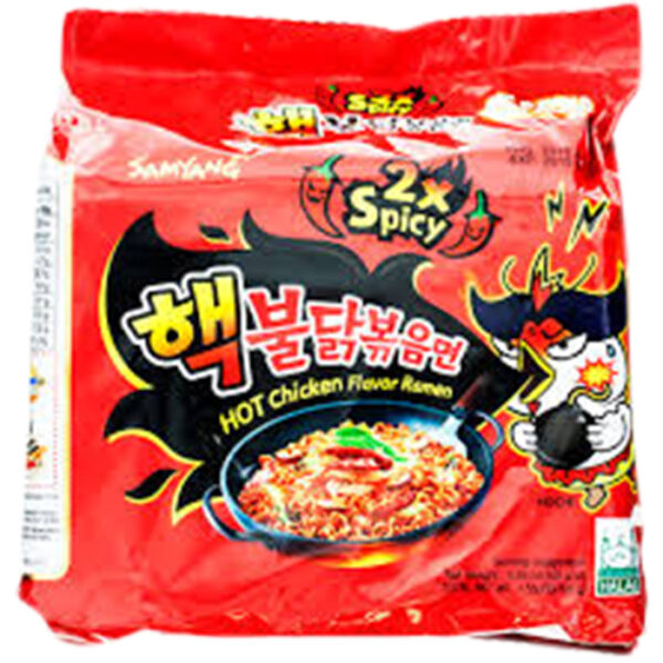 Samyang 2x spicy hot chicken flavor noodles